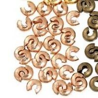 20 Rose Gold Crimp Covers 4 mm